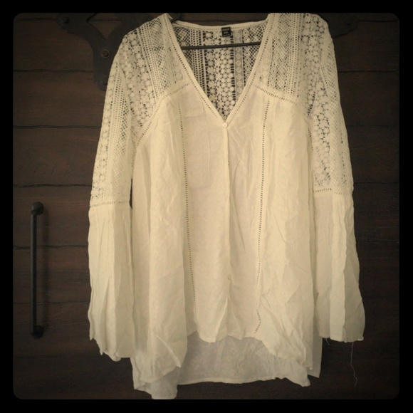 495870514d SHEIN Tops | White Lace Boho Shirt Brand New | Poshmark